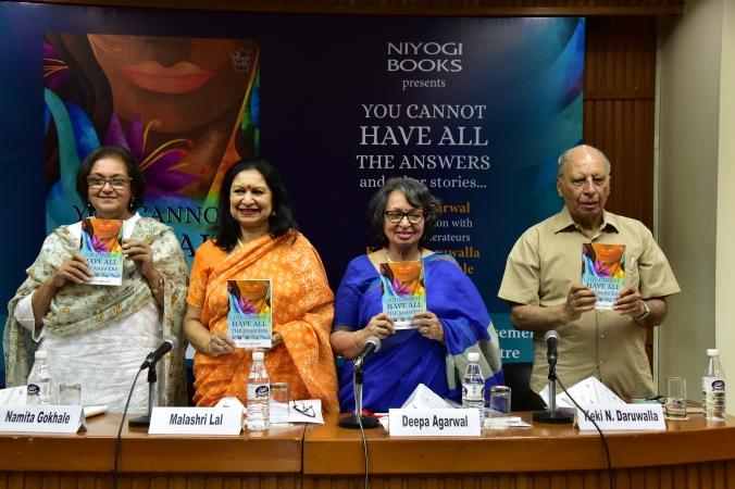 L-R Namita Gokhale, Malashri Lal, Deepa Agarwal and Keki N. Daruwalla.jpg